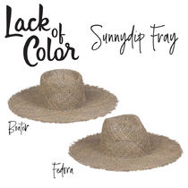 【Lack of Color】Sunnydip Fray Boater/Fedora ストローハット