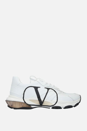VALENTINO スニーカー 【VALENTINO】BOUNCE VLOGO SNEAKERS IN SMOOTH LEATHER