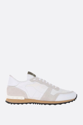 VALENTINO スニーカー 【VALENTINO】ROCKRUNNER CAMOUFLAGE FABRIC AND NAPPA SNEAKERS
