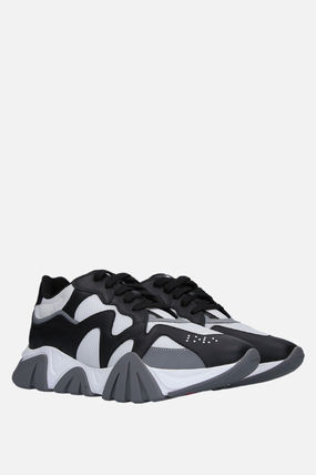 VERSACE スニーカー 【VERSACE】SQUALO SNEAKERS IN MESH AND SMOOTH LEATHER(2)