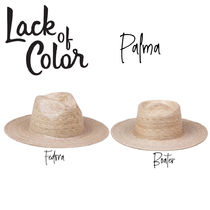【Lack of Color】Palma Fedora /Boater ストローハット パルマ