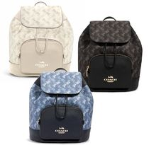 【COACH】JES BACKPACK レザー×馬車プリントバックパック 91110