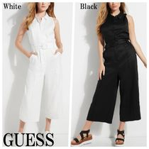 GUESS*ILARIA CROPPED LINEN ジャンプスーツ*ノースリーブ♪