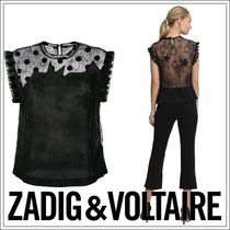 Zadig and Voltaire★Tetro Lace Top レースノーカラートップス