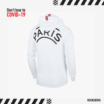 Don't Lose to COVID-19!Jordan PSG Fleece Hoodie White XS