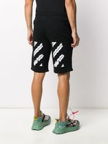 OFF-WHITE // AIRPORT TAPE SWEAT SHORTS スウェットショーツ 黒