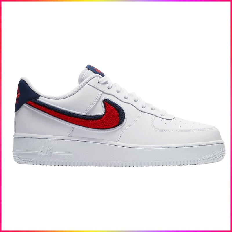 Nike Air Force 1 Low 3D Chenille Swoosh White Red Blue (Nike/スニーカー) 823511 106