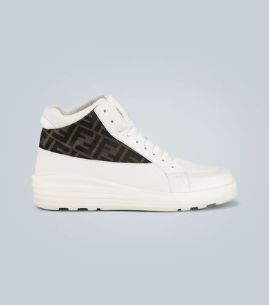 FENDI スニーカー ★関税込み★送料無料Leather high-top sneakers(2)