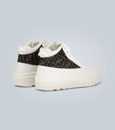 FENDI スニーカー ★関税込み★送料無料Leather high-top sneakers(5)