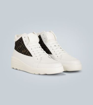 FENDI スニーカー ★関税込み★送料無料Leather high-top sneakers(6)