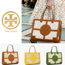 [TORY BURCH] ELLA CANVAS QUADRANT TOTE A4収納可能♪