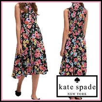 kate spade☆floral bouquet midi dress ワンピース☆税送込