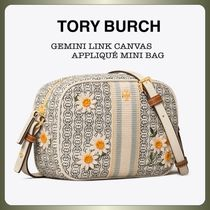 【Tory Burch】花柄♪GEMINI LINK CANVAS MINI BAG