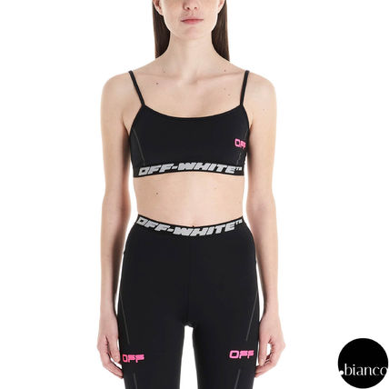 Off-White ブラジャー 関税込OffWhite ACTIVE TRAINING TOP ロゴ スポーツブラトップ(3)