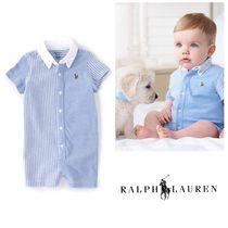 【Ralph Lauren】新作☆BabyBoy Colorblock Stripe Shortall