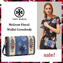 最終セール 新作 Tory Burch McGraw Floral Wallet Crossbody