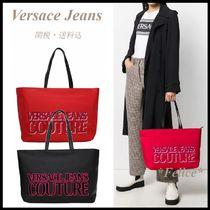 VERSACE JEANS COUTURE*ロゴプリント トートバッグ 関税/送料込
