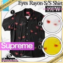 19FW /Supreme Eyes Rayon S/S Shirt アイズ レーヨン シャツ