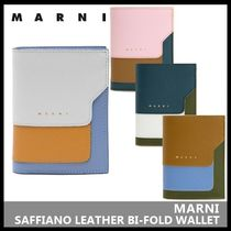 【MARNI】SAFFIANO LEATHER BI-FOLD WALLET PFMOQ14U13 LV520