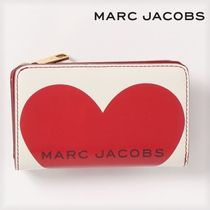 SALE! Marc Jacobs ロゴ ハート ステッチ コンパクト財布