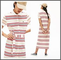 Lacoste★Striped Buttoned Polo Dress ポロシャツワンピース