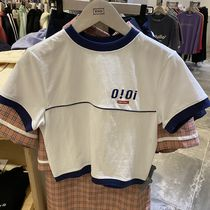 20/SS★【5252 by OiOi】PIPING POINT CROP T-SHIRTS 全3色