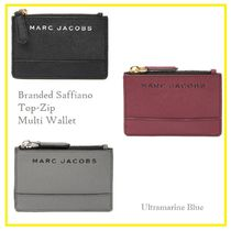 MARC JACOBS☆Branded Saffiano Top-Zip Multi Wallet☆