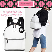 ★kate spade★ SPORT KNIT シティ バックパック Large 白 即発