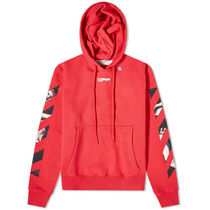 off-white オフホワイトCARAVAGGIO ARROWS POPOVER HOODY RED