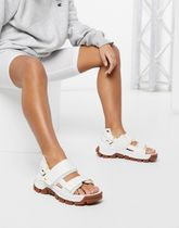 CAT Progressor chunky utility sandals in white