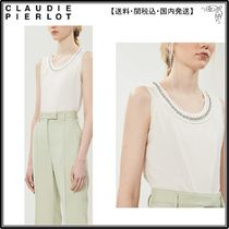 【海外限定】ClaudiePierlotシャツ☆Chancee embellished neckli