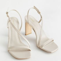 "& Other Stories(アンドアザーストーリーズ) サンダル・ミュール ""& Other Stories"" Faux Leather Heeled Sandals Beige/Vegan"