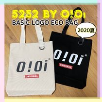 20/SS★【5252 by OiOi】BASIC LOGO ECO BAG/エコバッグ 全2色