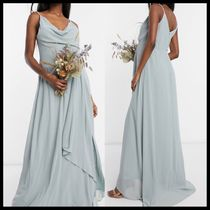 TFNC Maternity bridesmaid cowl neck cami strap maxi dress