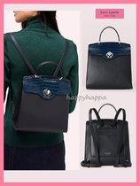 【kate spade】限定SALE☆クロコ型押しバックパック