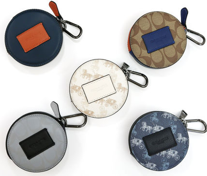 ☆COACH☆ROUND HYBRID POUCH IN COLORBLOCK SIGNATURE CANVAS