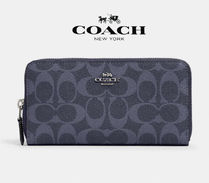 4月NEW COACH★accordion zip wallet 91205*デニム