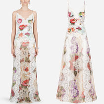 DG2309 CHIFFON SLIP DRESS WITH FLORAL PRINT AND LACE DETAILS