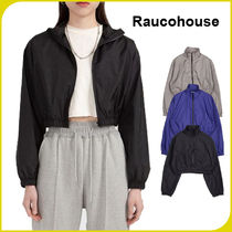【RAUCOHOUSE】NYLON CROP HIGH-NECK JUMPER /追跡可能
