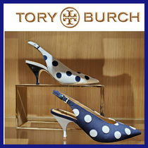 TORY BURCH パンプス 水玉♪ 70MM SLING BACK PUMP