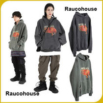 【RAUCOHOUSE】RED METALLICA PIGMENT DYING HOODIE