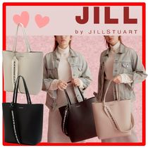 送料 関税込☆JILLSTUART☆Leather Lettering Strap Shopper Bag