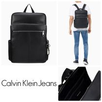 Calvin Klein Jeans★ tagged スクエア バックパック*ブラック
