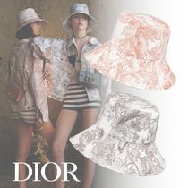 "20SS<ディオール>DIORIVIERA ""Toile de Jouy"" ボブハット"
