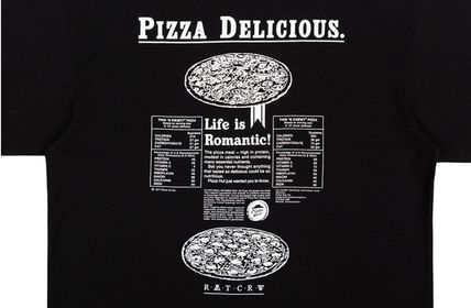 ROMANTIC CROWN Tシャツ・カットソー ROMANTIC CROWN★[PIZZAHUT X RMTCRW]PIZZA POSTER TEE 3色(18)