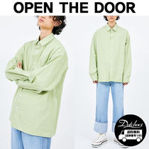 OPEN THE DOOR over-fit daily shirts (7 color) YM332 追跡付