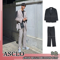 ASCLO★韓国の人気★2WAY MULTI BUTTON SUIT SET 3色