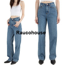 Raucohouse NATURAL WASHED STRAIGHT JEANS