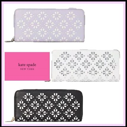 kate spade new york 長財布 kate spade☆sylvia perforated スリム 長財布☆税・送料込