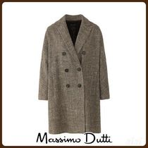 MassimoDutti♪TEXTURED WEAVE COAT WITH BUTTONS